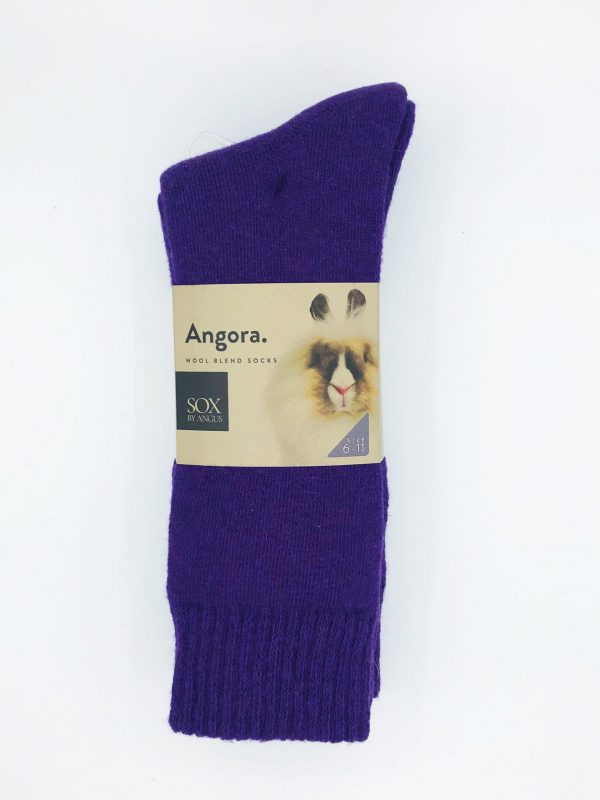 Angora Wool Blend Socks 2 Pair Pack – Purple