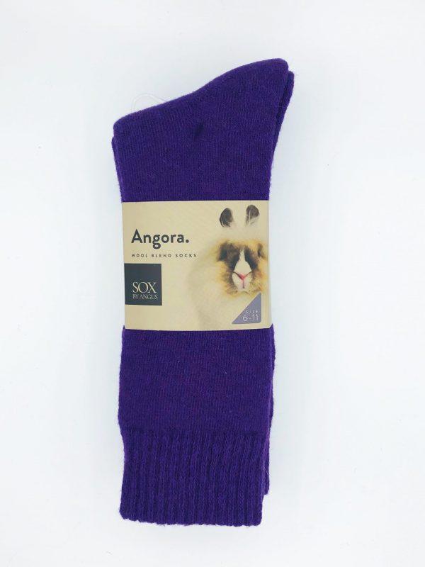 Angora Wool Blend Socks 2 Pair Pack – Purple