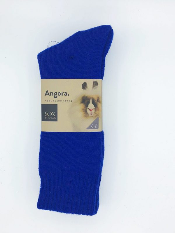 Angora Wool Blend Socks 2 Pair Pack – Royal Blue