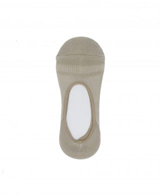 Bamboo invisible socks-medium cut-Fawn