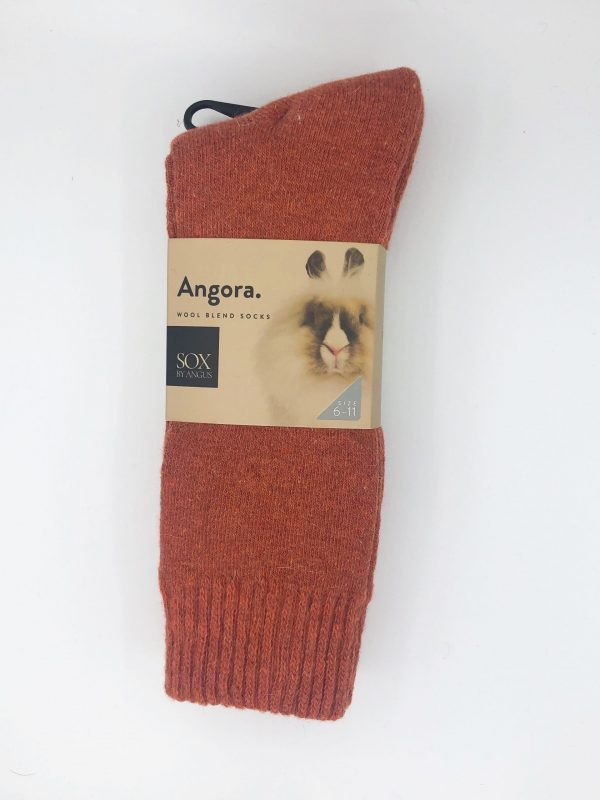 Angora Wool Blend Socks 2 Pair Pack – Orange