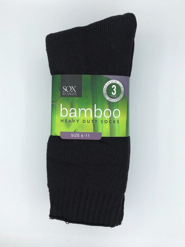Bamboo Heavy Duty Socks – 3 Pairs Pack – Brown