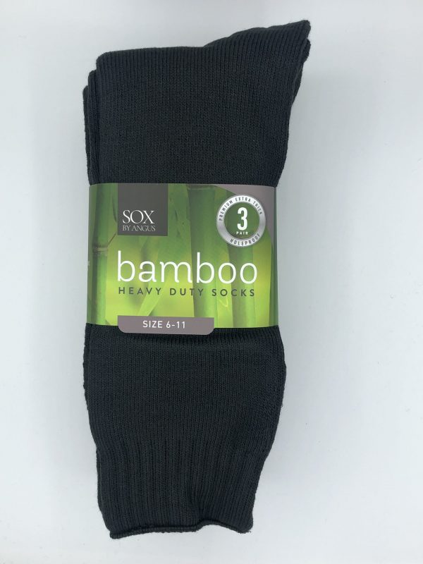 Bamboo Heavy Duty Socks – 3 Pairs Pack – Charcoal