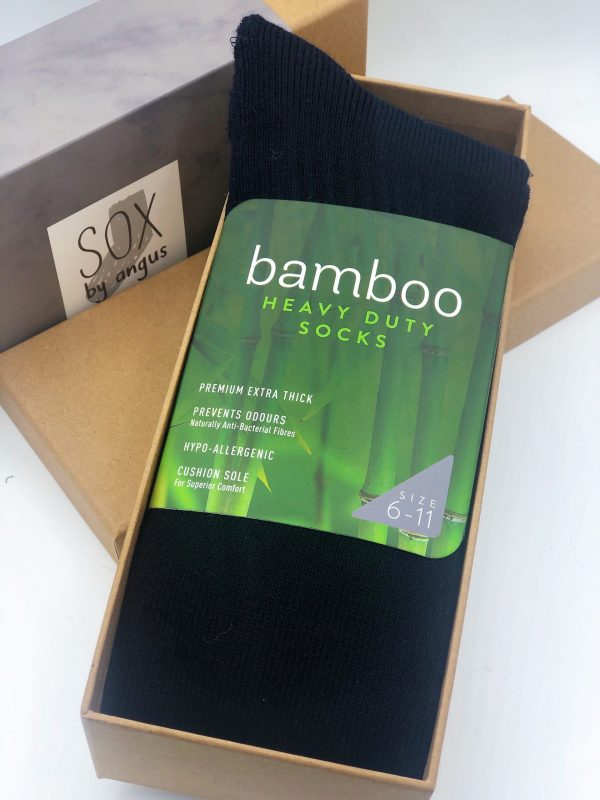 Gift Box-Bamboo KNEE HIGH heavy duty socks-Navy
