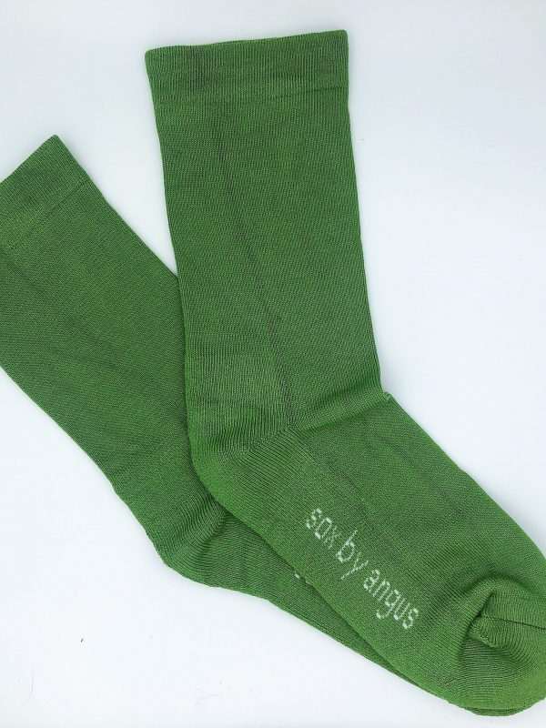 Bamboo Plain Cushion Foot Loose Top Socks – Khaki Green