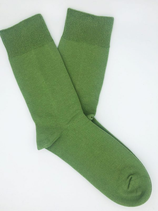 Cotton Loose Top Socks – Khaiki green