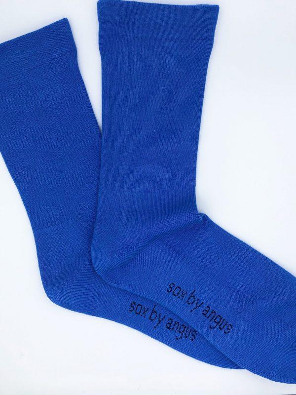 Bamboo Plain Cushion Foot Loose Top Socks – Sky blue