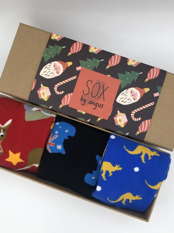 X'mas Gift Box B (Combed cotton novelty socks)