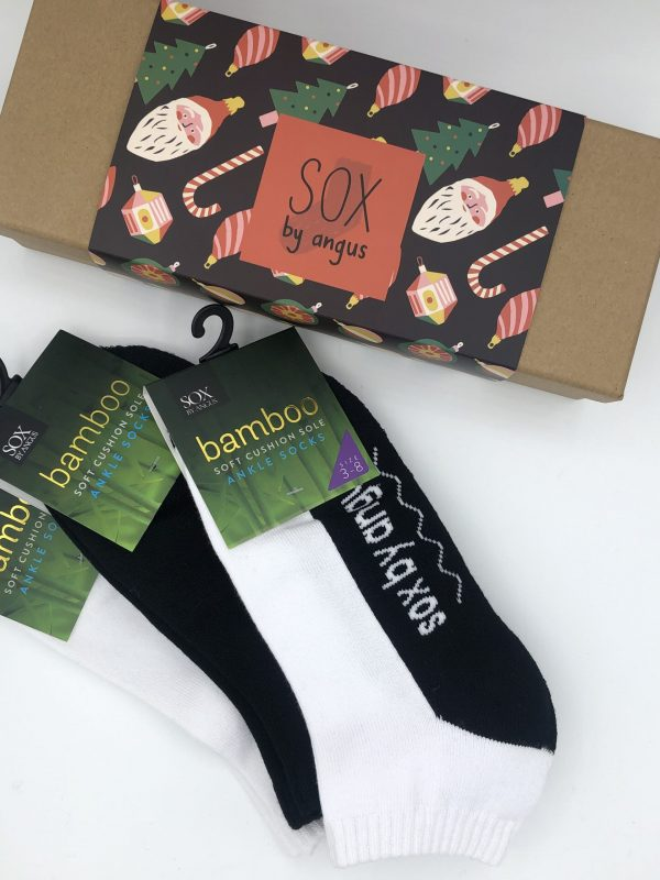 X'mas Gift Box H (Bamboo cushion sole anklet sport socks)
