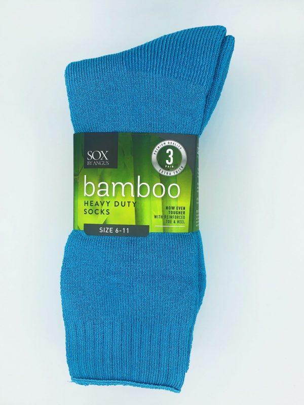Bamboo Heavy Duty Socks – 3 Pairs Pack – Aqua