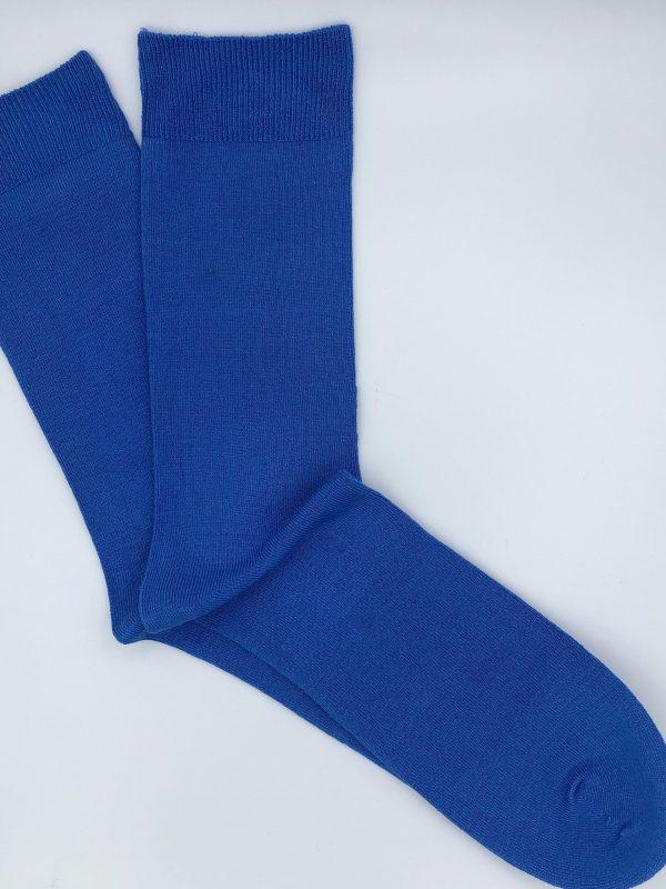 Bamboo Plain Loose Top Socks – Sky Blue