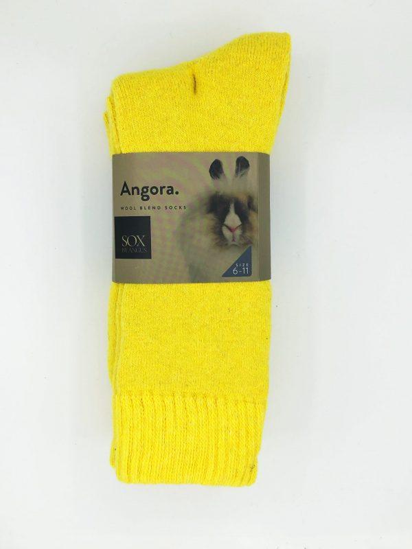 Angora Wool Blend Socks 2 Pair Pack – Maize