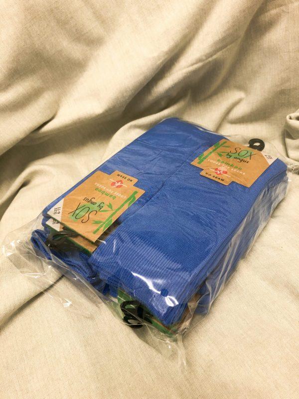 Bamboo Plain Loose Top Socks – Sky Blue (Bulk sale)