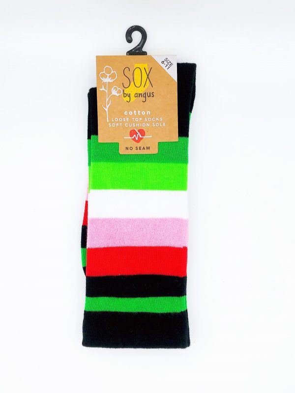 Cotton Loose Top Socks – Stripe 7#