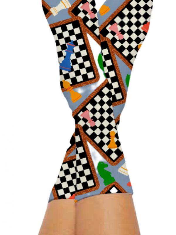 CHESS MESS SOCKS-Digital Printed Bamboo Novelty Socks