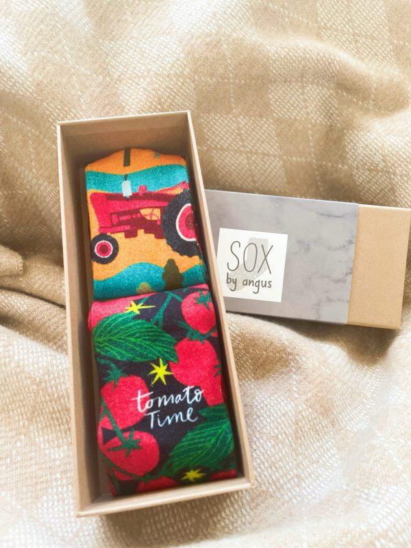 Father's Day-Hayride & Tomato socks