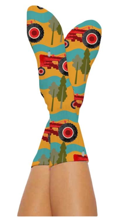 HAYRIDE SOCKS-Digital Printed Bamboo Novelty Socks