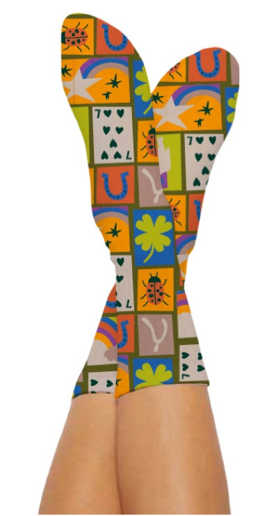 LUCKY YOU SOCKS-Digital Printed Bamboo Novelty Socks