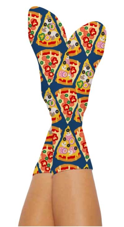 PIZZA THAT SOCKS-Digital Printed Bamboo Novelty Socks
