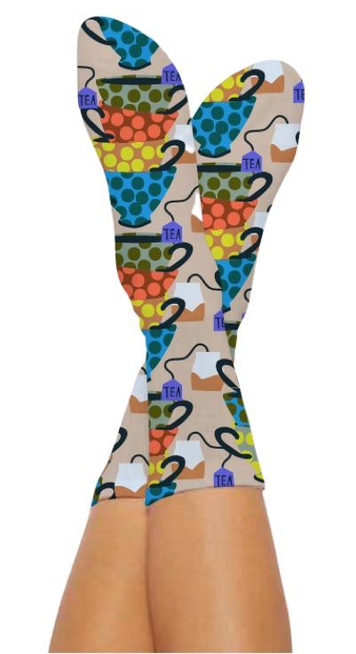 THE TEA SOCKS-Digital Printed Bamboo Novelty Socks