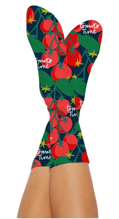 TOMATO TIME SOCKS-Digital Printed Bamboo Novelty Socks
