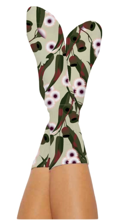 WATTLE IT BE SOCKS-Digital Printed Bamboo Novelty Socks